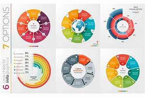 Collection Of 6 Vector Circle Chart Templates 7 Options