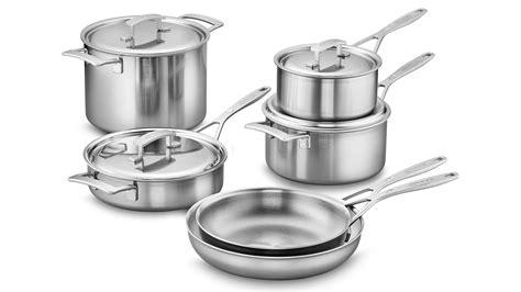 demeyere industry stainless steel cookware set  piece cutlery