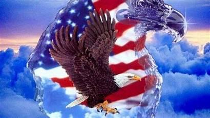 Flag Eagle American Patriotic Military Desktop Support