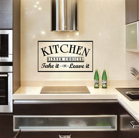 kitchen wall decals kitchen dinner choices take it or leave it wall decals