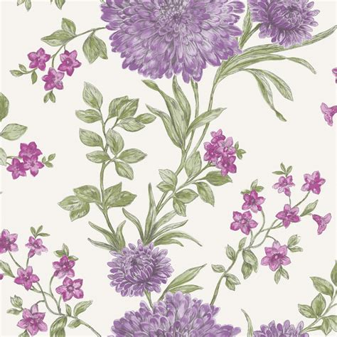 rasch bordeaux flower pattern floral motif traditional