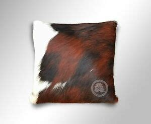 Cowhide Pillow Cover by Cowhide Pillow Cover Tricolor 15 X 15 168 Cushion