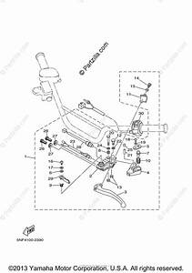 Yamaha Atv 2003 Oem Parts Diagram For Handle Switch