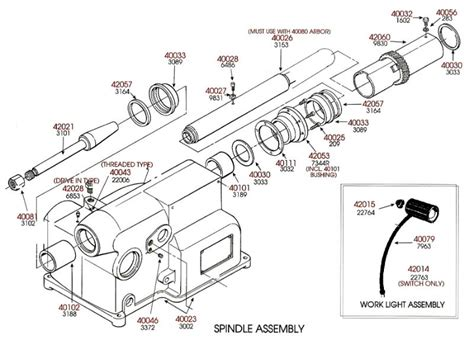 brake lathe parts breakdown spindle assembly for ammco