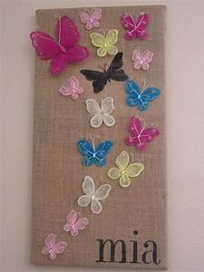 Stenciled butterfly wall art diy inspired