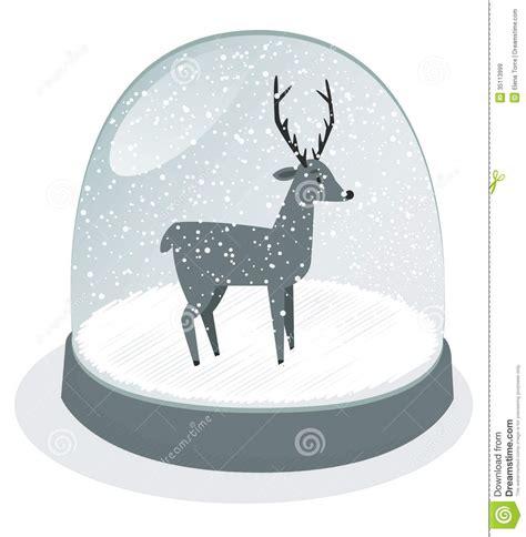 snow globe vector stock vector image   merry
