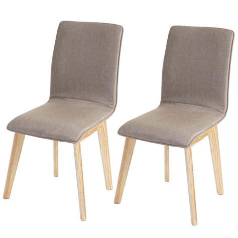 chaise tissu salle a manger lot de 6 chaises de salle à manger en tissu pied en bois