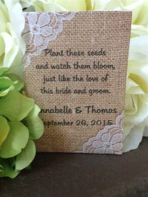 wedding favors wedding seed packets rustic wedding