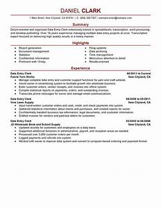 data entry clerk resume examples free to try today With data entry resume sample
