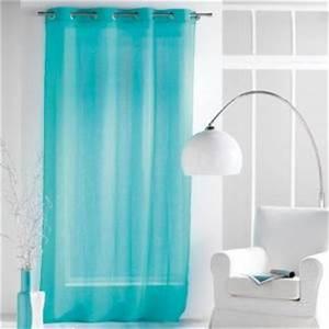 Voilage Bleu Turquoise : rideaux bleu turquoise comparer 120 offres ~ Teatrodelosmanantiales.com Idées de Décoration