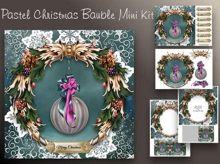 christmas bubbles soft colors cup craftsuprint