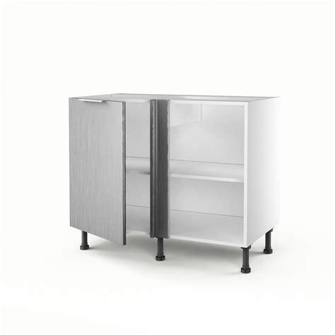 d馗or de cuisine meuble de cuisine bas d 39 angle décor aluminium 1 porte stil h 70 x l 100 x p 56cm leroy merlin