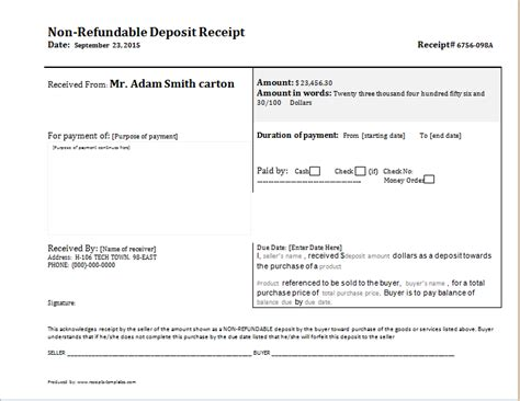 deposit receipt template word pin by alizbath adam on daily microsoft templates