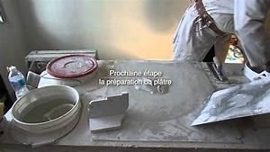 Corniche Plafond Platre : restauration d une corniche en pl tre moulure au plafond endommag e par l eau youtube ~ Voncanada.com Idées de Décoration