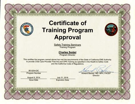 emsa cpr certification   san francisco bay area