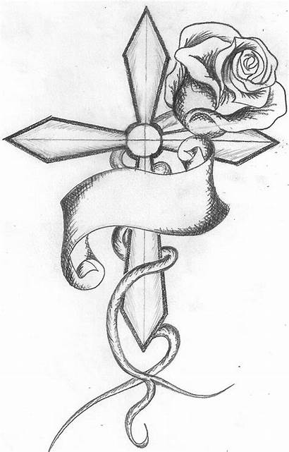 Crosses Draw Cross Rose Cool Clipart Library