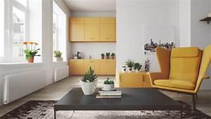 1001 conseils et exemples de deco interieur d With tapis jaune avec meuble rangement derrière canapé