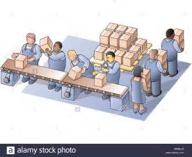 Cartoon Factory Packing Department