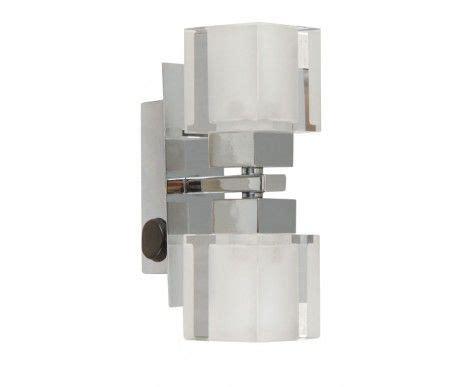 targa wall bracket in chrome frosted glass lighting beacon