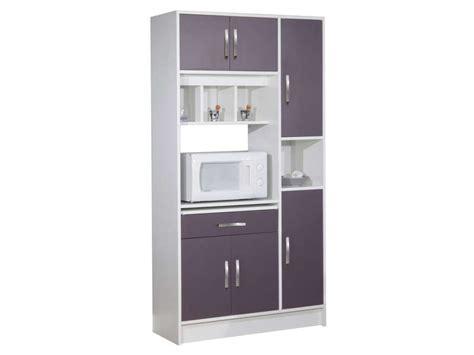 conforama meuble de cuisine buffet buffet de cuisine nanny coloris blanc aubergine vente