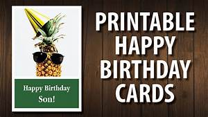 For Your Son Printable Happy Birthday Cards