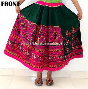Gujarati Kutch Mirror Work Skirt- Wholesale Indian Tribal ...