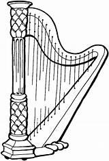 Clipart Harp Gas Cartoon Pump Para Instrumentos Concert Musicales Dibujos Station Musical Drawings Instruments Educación Menta Más Infantil Recursos Chocolate sketch template