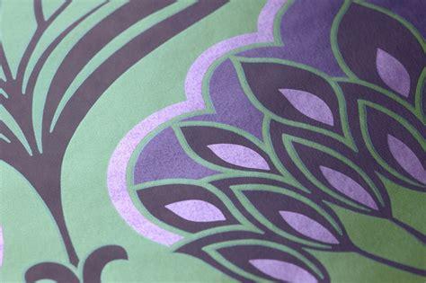 Tapisserie Violette by Papier Peint Perdula Vert Jaune Violet Fonc 233 Violet