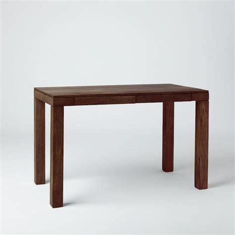 parson desk west elm parson s desk with drawers mango wood modern desks