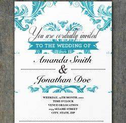 free tiffany blue damask wedding invitation template With free printable tiffany blue wedding invitations