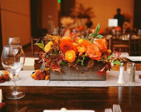 Blumen Hochzeit Dekorationsideen by Herbst Tischdeko Idee Blumen Festlich Blumen Hochzeit