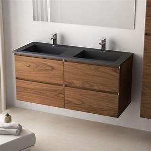 Meuble Double Vasque Suspendu : la salle de bain au masculin ~ Melissatoandfro.com Idées de Décoration
