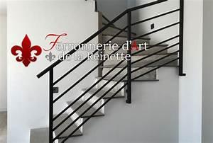 Rampe D Escalier Moderne : rampe d 39 escalier moderne r alis sur mesure aix en provence 13 ferronnier var 83 ~ Melissatoandfro.com Idées de Décoration
