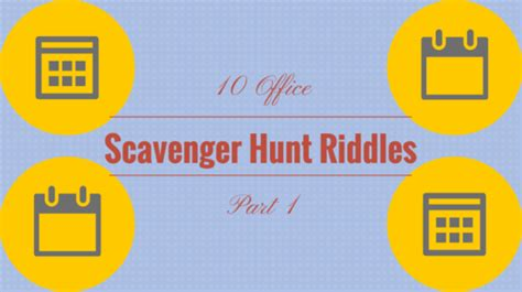 Hard Halloween Scavenger Hunt Riddles by 10 Office Scavenger Hunt Riddles