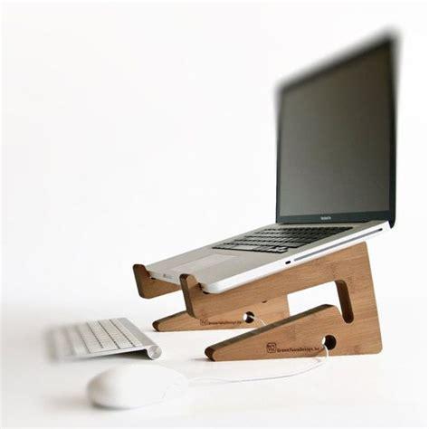 stand de bois pour ordinateur portable macbook pc portable ordinateur de montage ergonomique