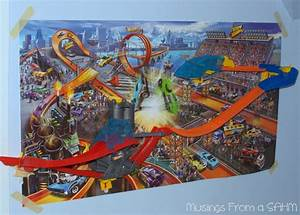 hot wheels wall tracks mid air madness giveaway living With hot wheels wall tracks template