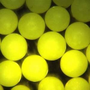 Bright Yellow Polyethylene Microspheres Beads Particles