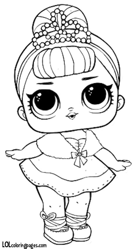 Midnight Lol Doll Coloring Pages