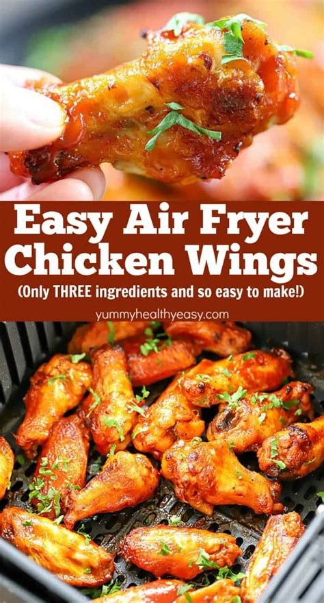 fryer wings chicken air recipe easy wing healthy yummy healthier they airfryer appetizer needed ingredients try three favorite re go