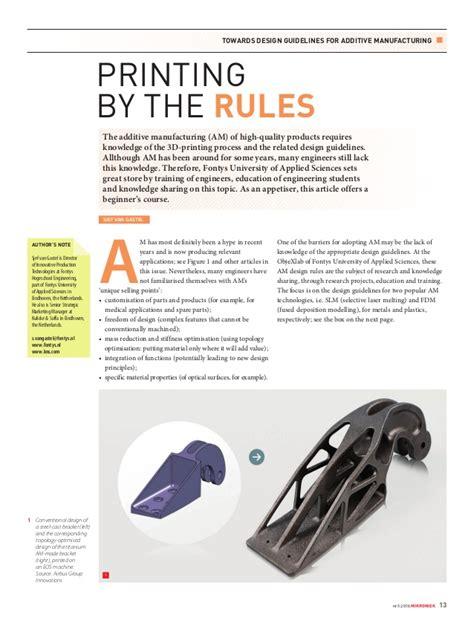 Mikroniek 2016-5 - AM design rules