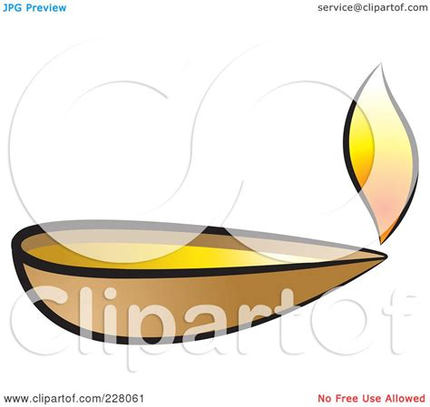 royalty free rf clipart illustration of a clay l by lal perera 228061
