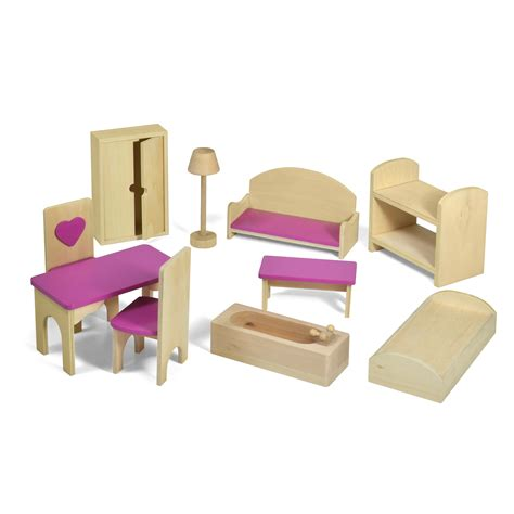 Accessories Furniture by Fortune East Dollhouse Furniture 10 Pc Set