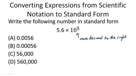 scientific notation to standard form worksheet the best