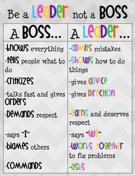 leader  boss poster student leadership leadership