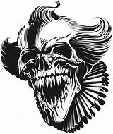 Coloring Scary Clown Halloween Adults Skull Evil Horror Drawings Clowns Jesters Dessins Jester Killer Tattoo Creepy Drawing Dessin Draw Teenagers sketch template