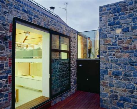 natural stone wall exterior wall designs with white l and white cabinet on the white modern