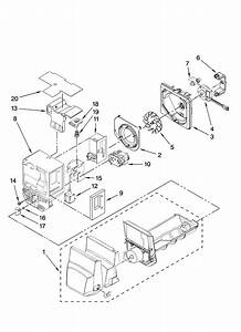 Motor And Ice Container Parts Diagram  U0026 Parts List For Model Gi5fvaxvb00 Whirlpool