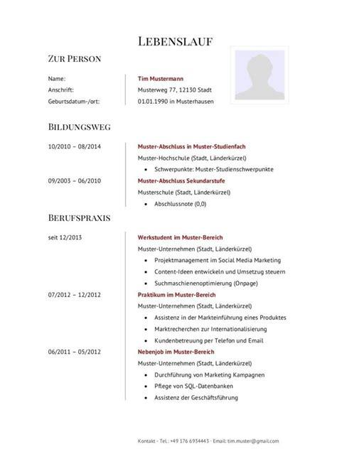 Lebenslauf Muster Für Schüler by Bewerbung F 252 R Sch 252 Lerpraktikum 77 Lebenslauf Muster