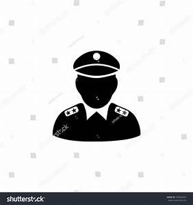 Policeman Icon Stock Vector 349560434 : Shutterstock