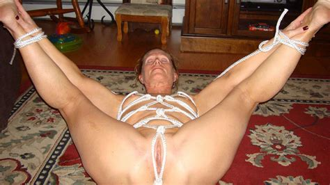 Wifebucket Mature Wife In A Tight Rope Bondage